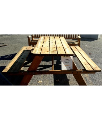 TABLE PIQUE NIQUE ZOE MARRON 180X150