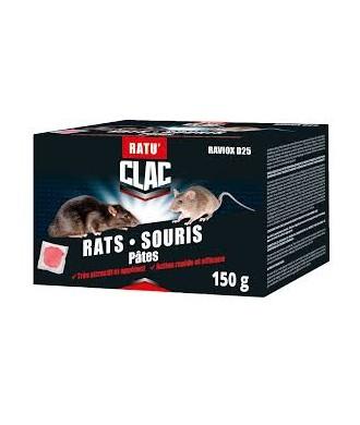 RATICIDE RATS/SOURIS POLYVALENT PATE ETUI DE 150GR