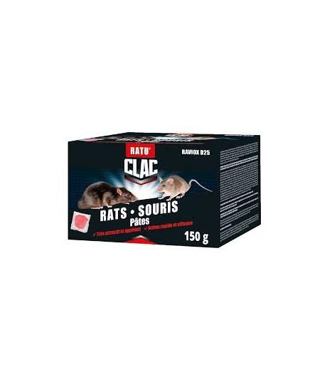 RATICIDE RATS/SOURIS POLYVALENT PATE ETUI DE 150GR REF RD-DIF-21001