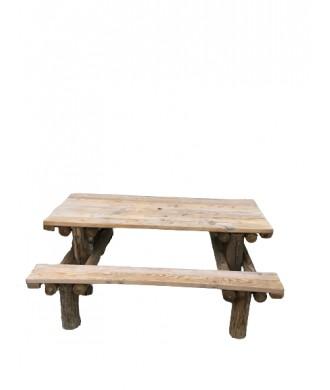 TABLE PIQUE NIQUE EN RONDINS 195x165x90